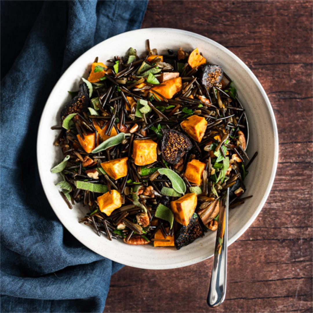 Fig and Sweet Potato Wild Rice Pilaf