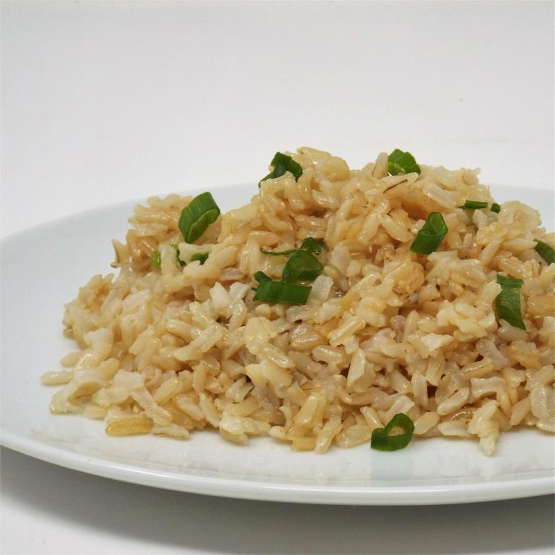 Garlic Sesame Brown Rice