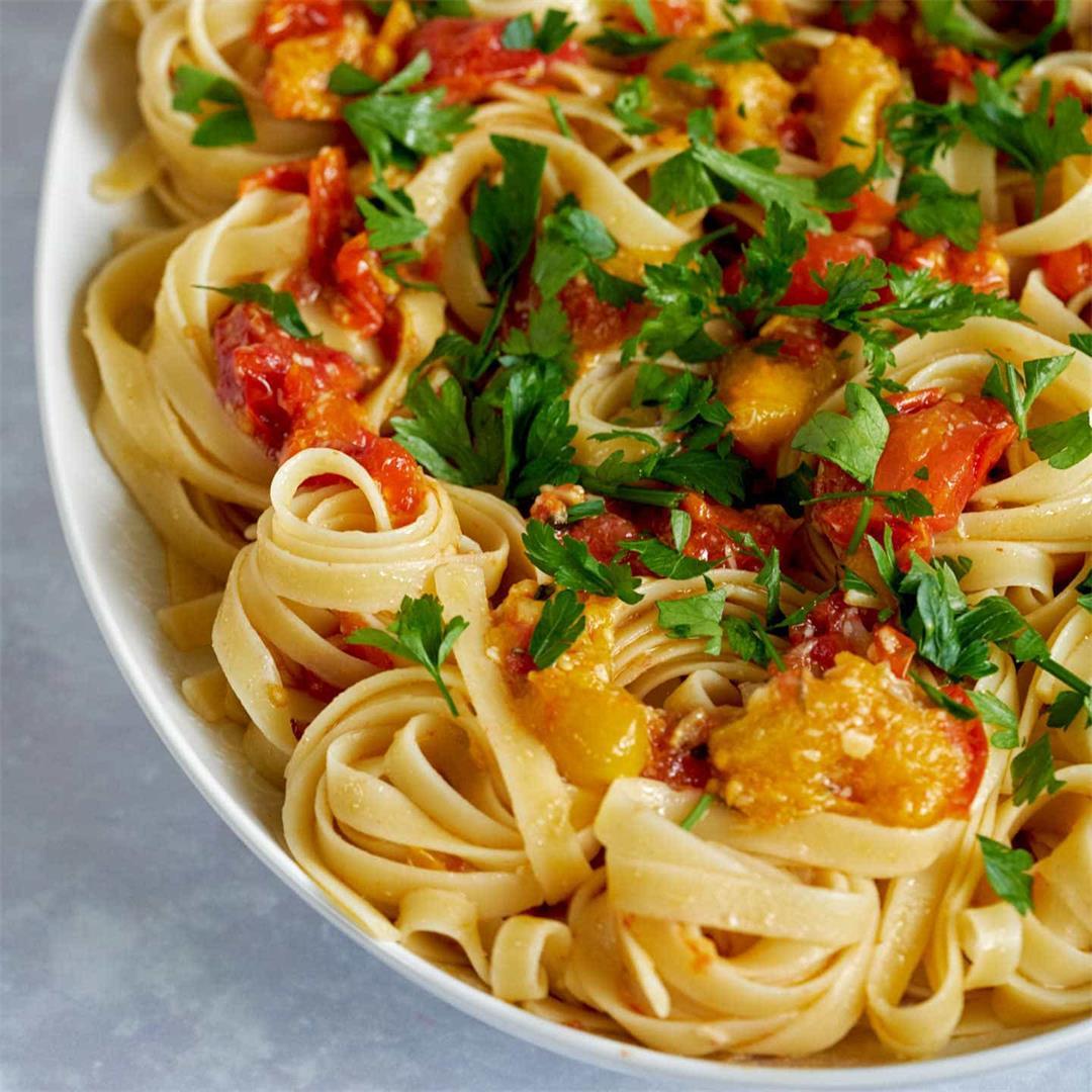 Cherry Tomato & Garlic Confit Tagliatelle