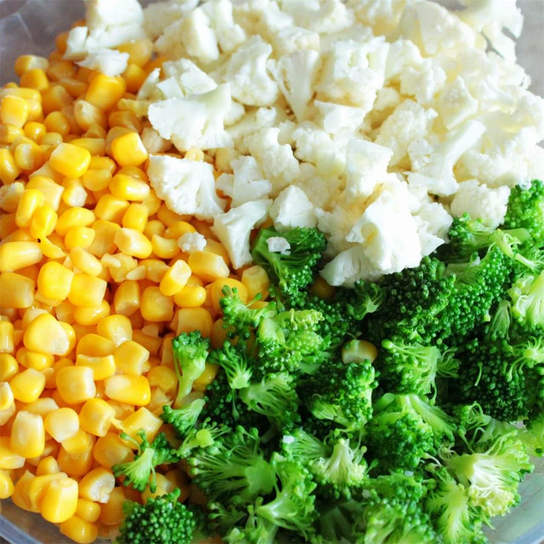 Broccoli Cauliflower Corn Salad