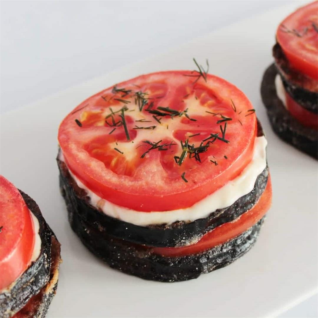 Fried Eggplant With Tomato
