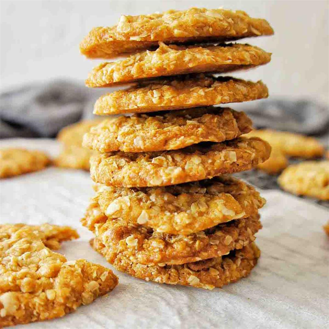 Anzac Biscuits (Rolled Oat Biscuits)