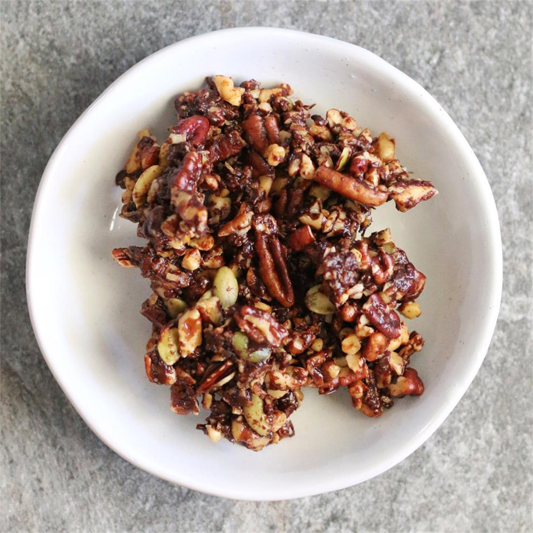 Grain-Free Chocolate Granola (paleo, GF)