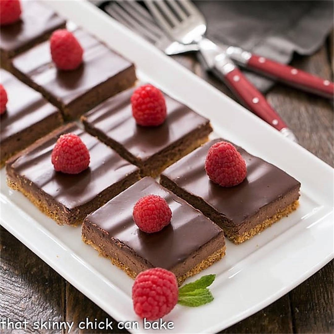 Dark Chocolate Mousse Bars -That Skinny Chick Can Bake