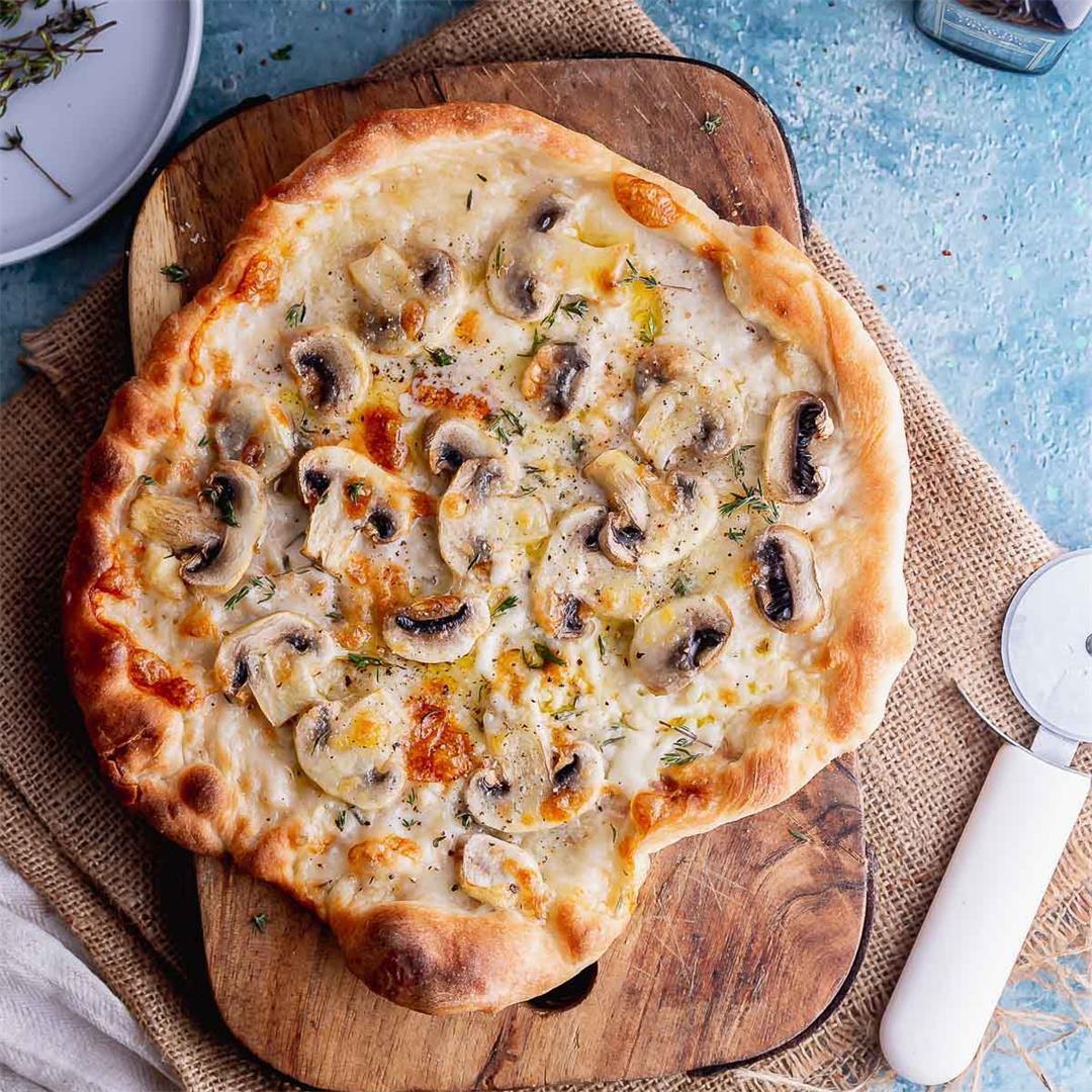 Skillet Truffle Mushroom Pizza