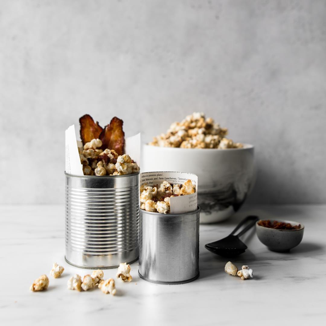 Maple & Brown Sugar Popcorn with Bacon