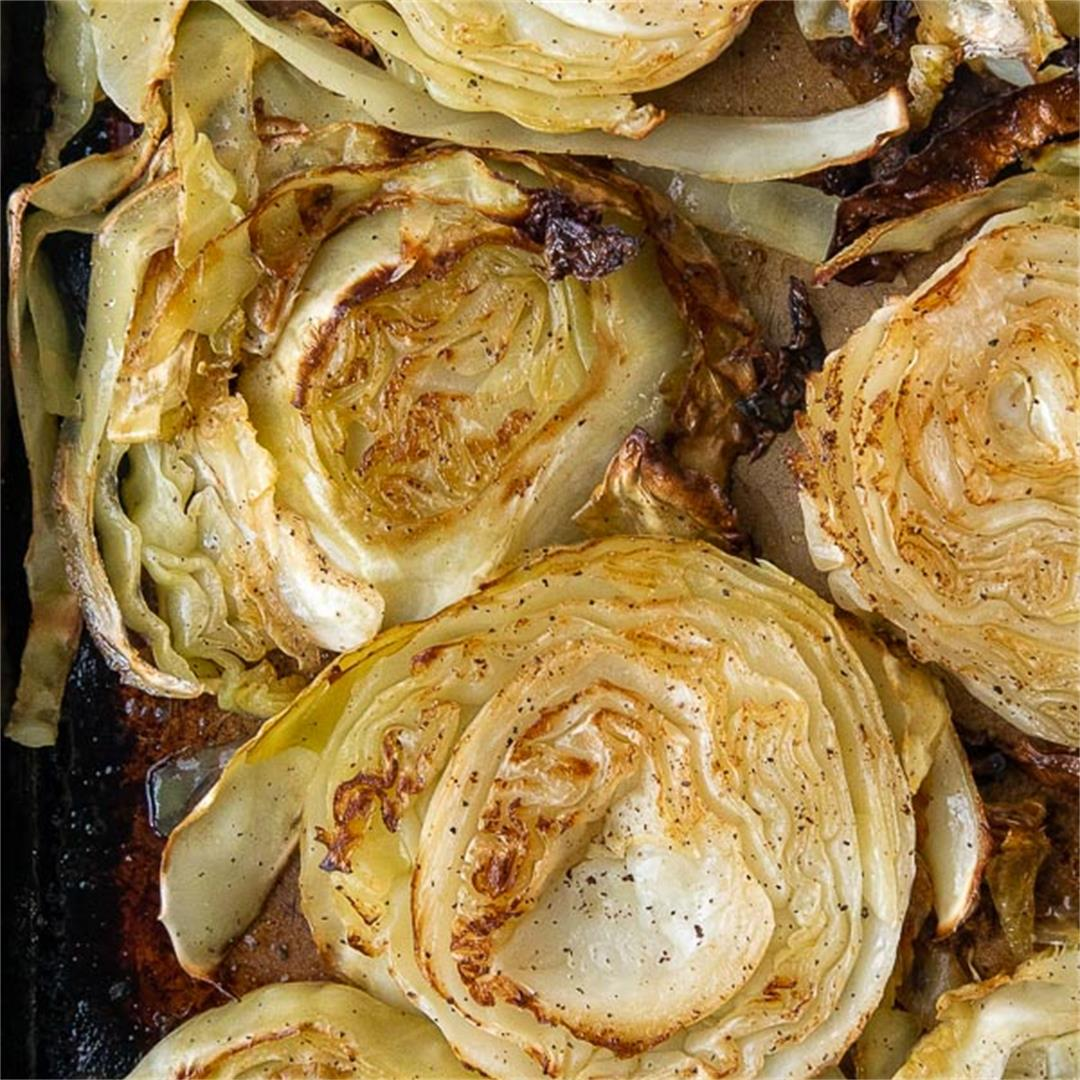 Crispy Oven Roasted Cabbage Steaks