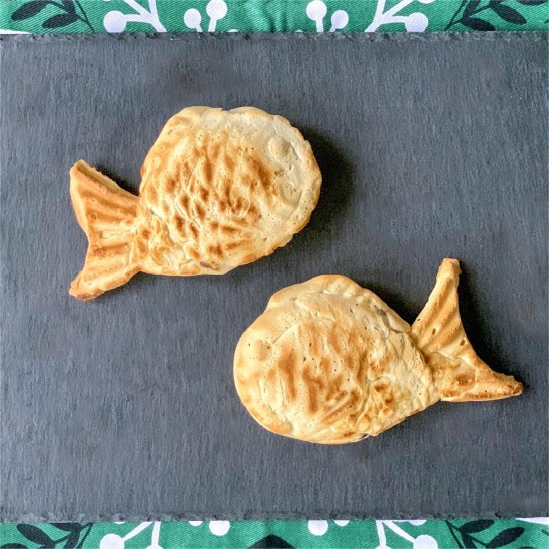 Vegan Taiyaki (Japanese Fish Shaped Waffle)