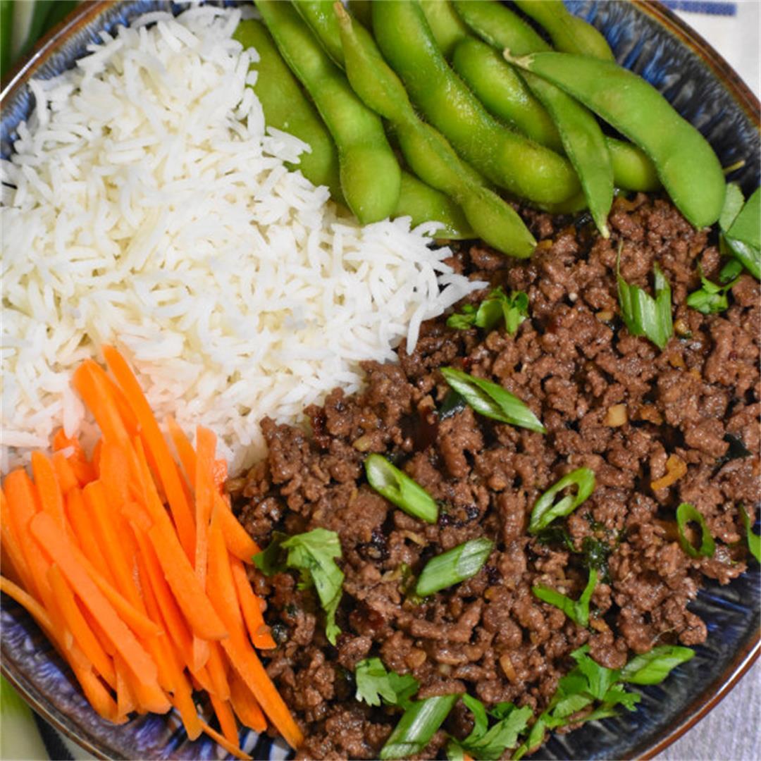 Korean Ground Beef Bowl (20 minute meal!)