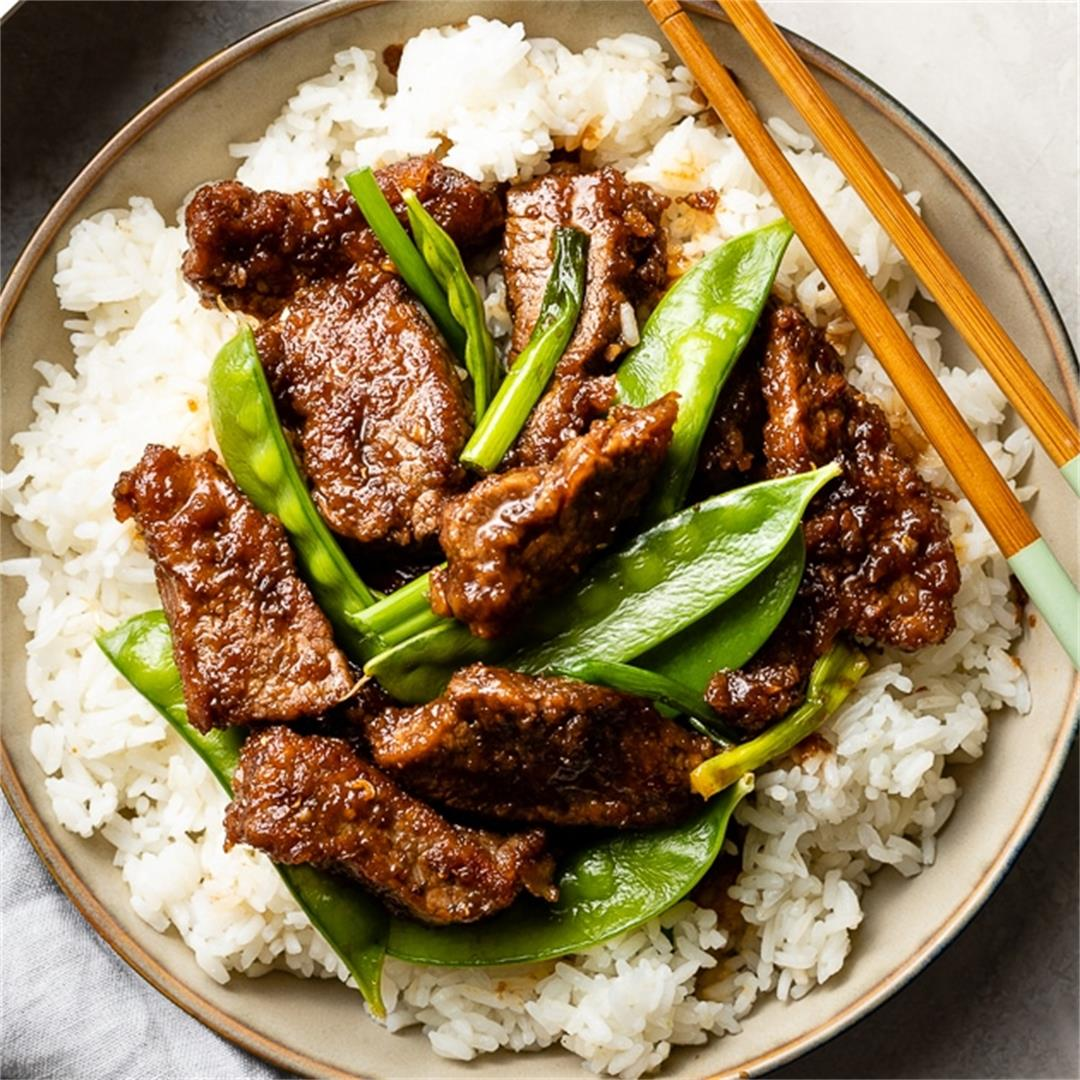Mongolian Beef with Snow Peas