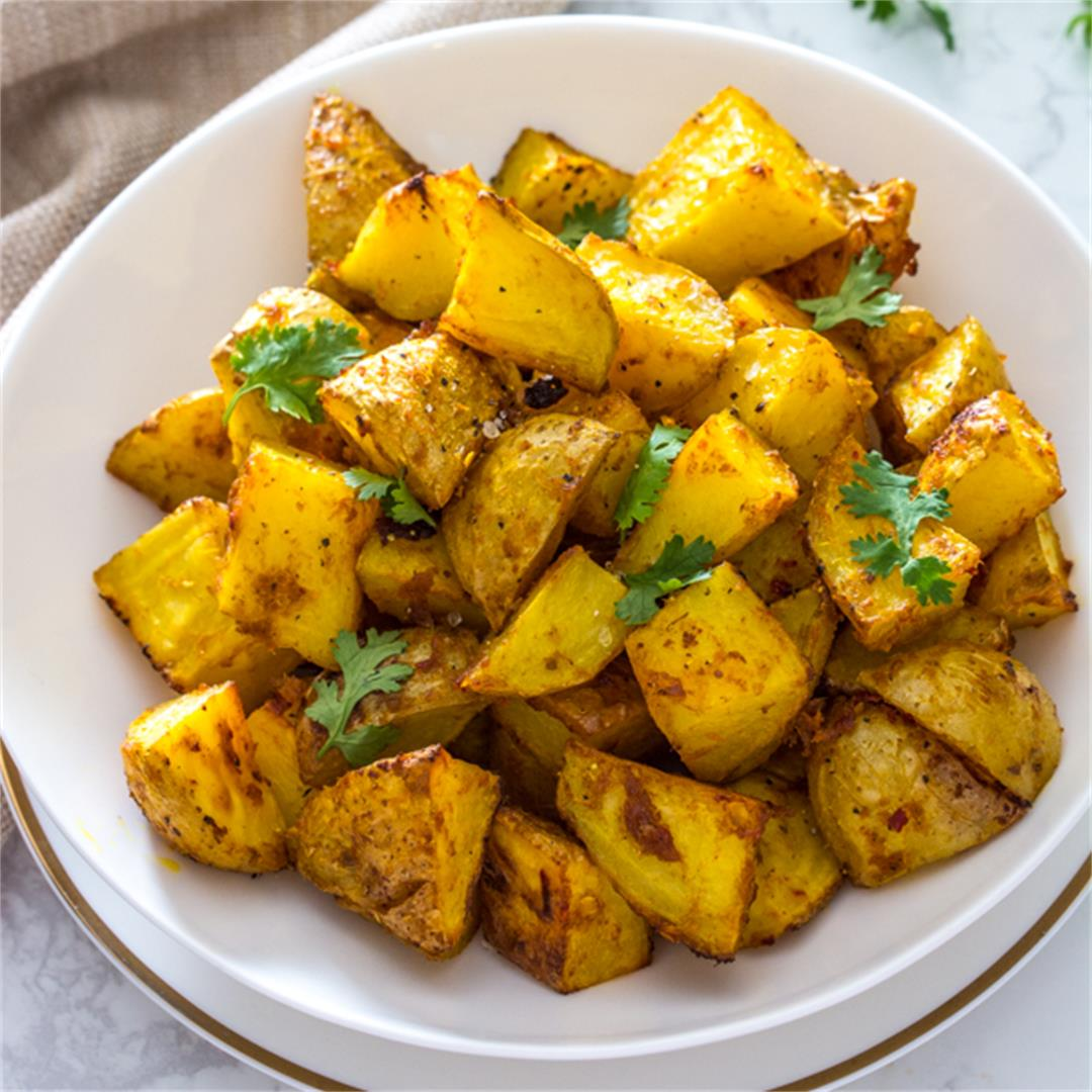 Roasted Thai Yellow Curry Potatoes
