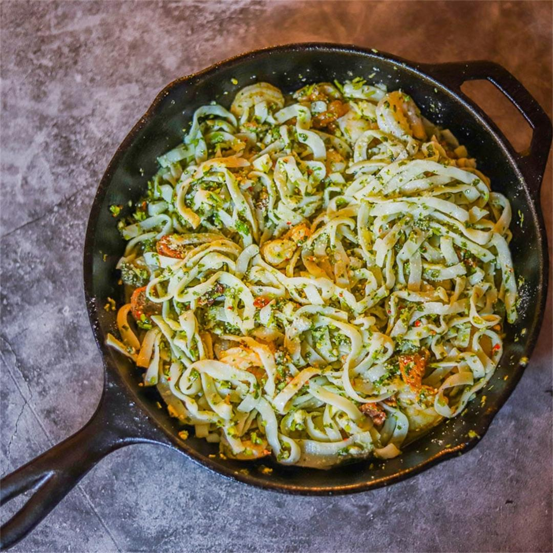 Chimichurri Protein Noodles (with shrimp)