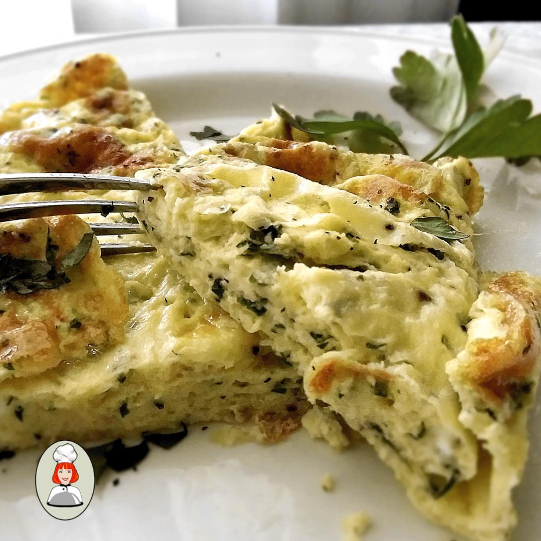 French Style Omelette Alfredo