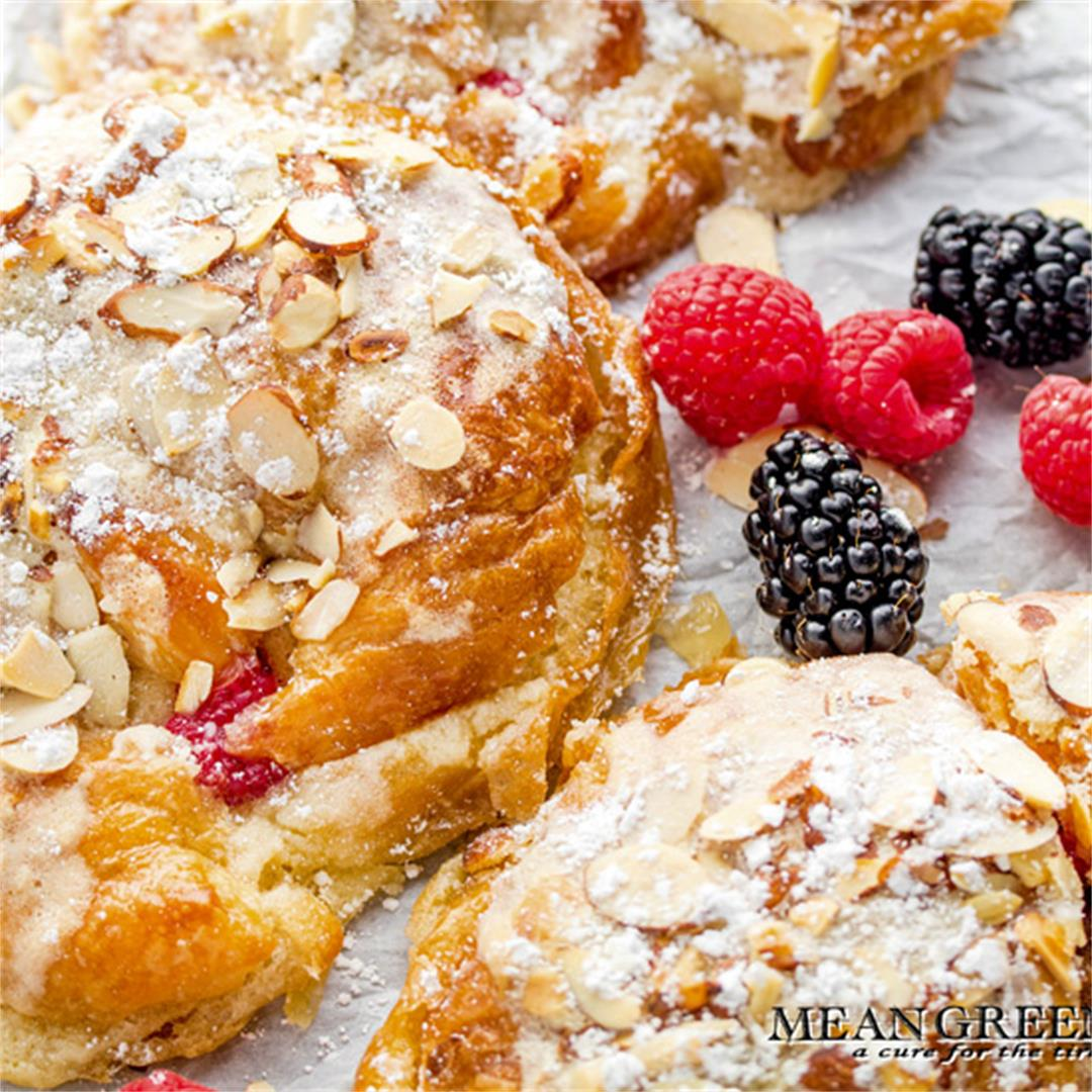 Almond Raspberry Stuffed Croissants