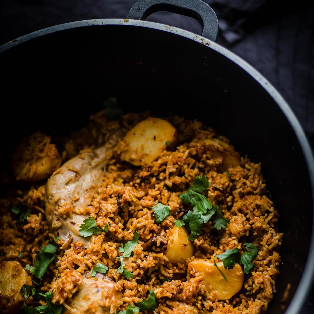 Chicken Akni, One Pot Chicken and Rice