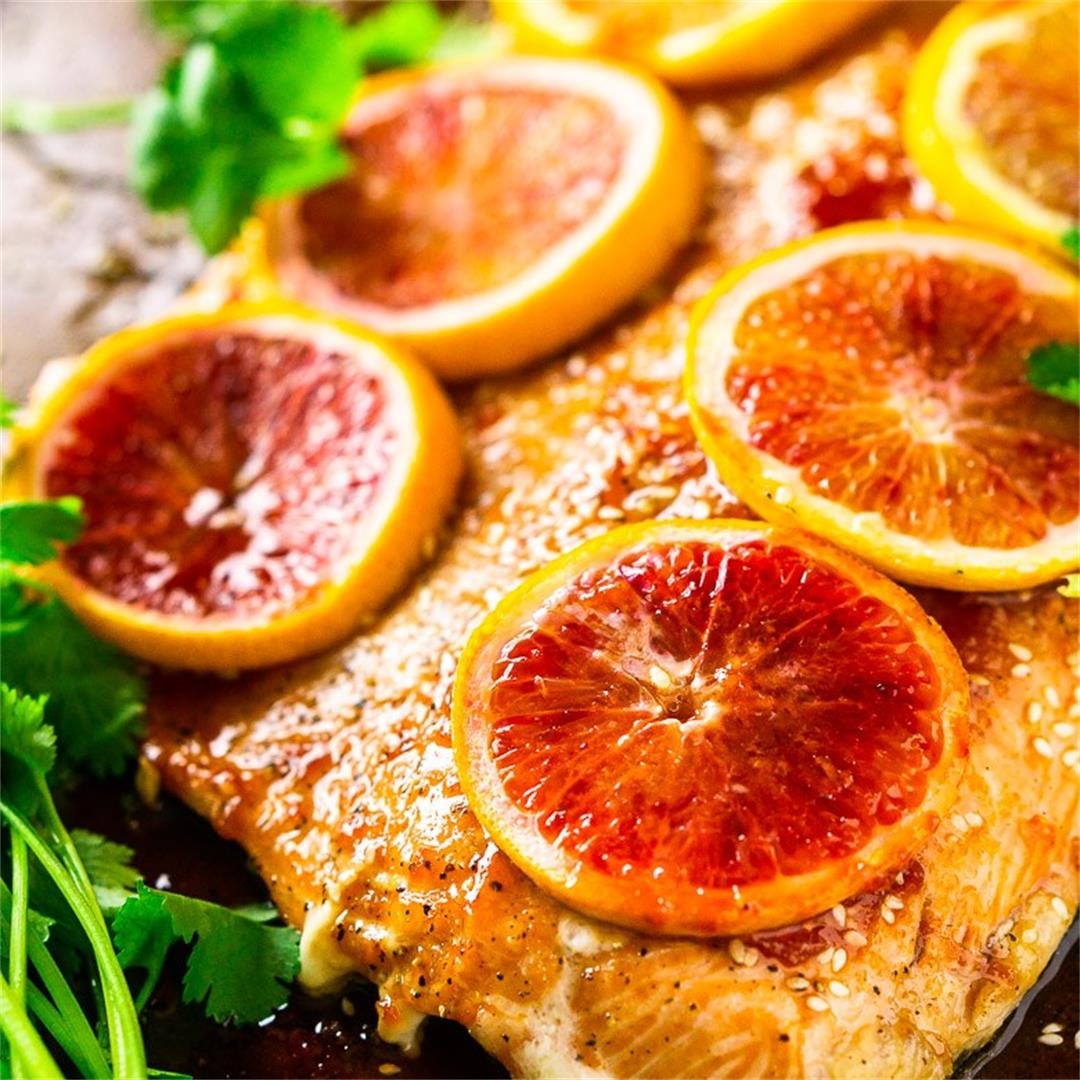 Slow-Roasted Blood Orange Salmon