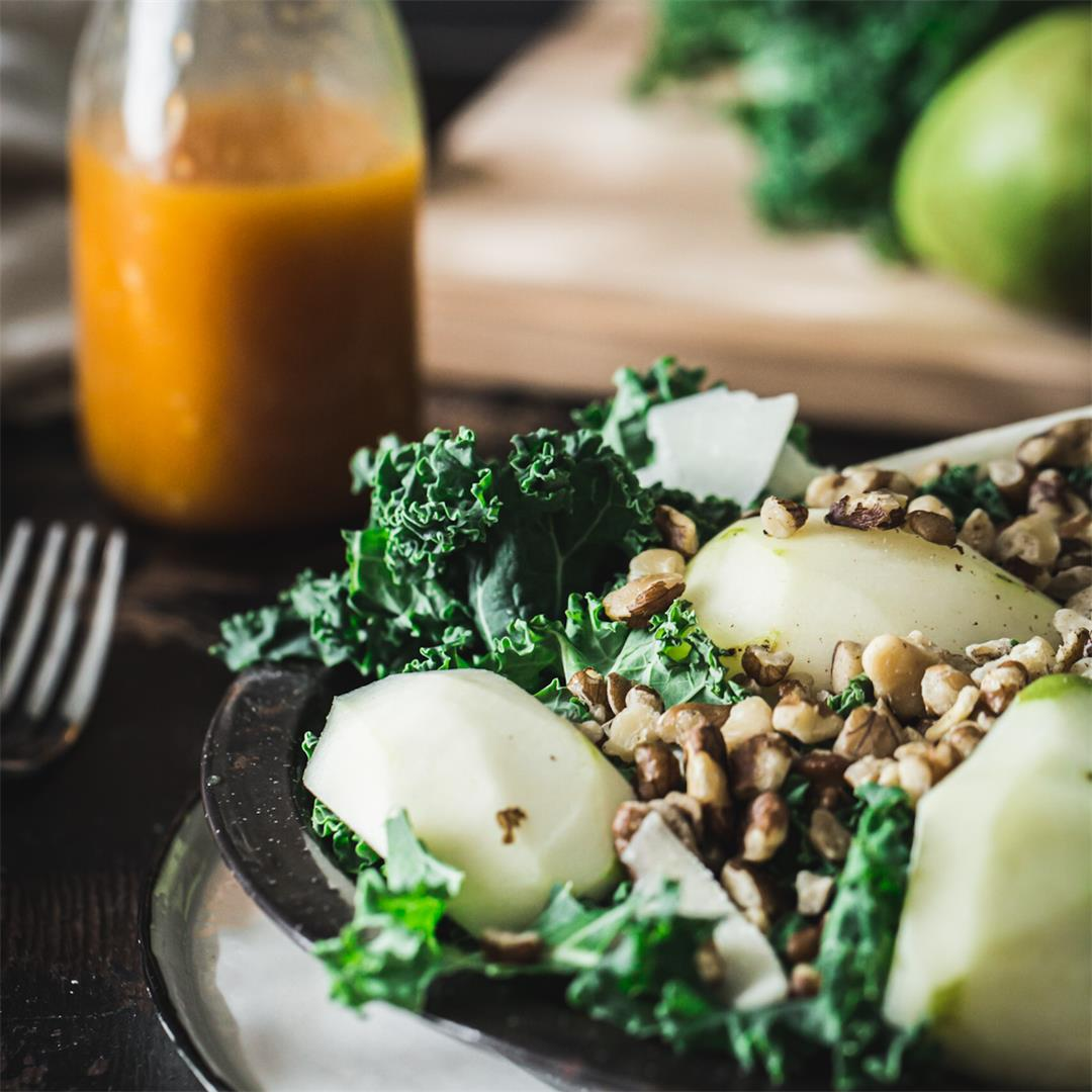 Persimmon Kale Salad