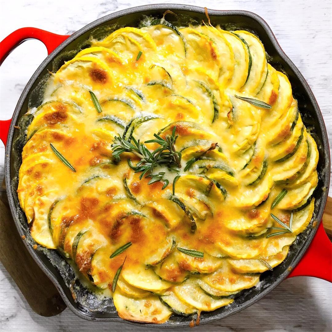 Zucchini & Yellow Squash Au Gratin
