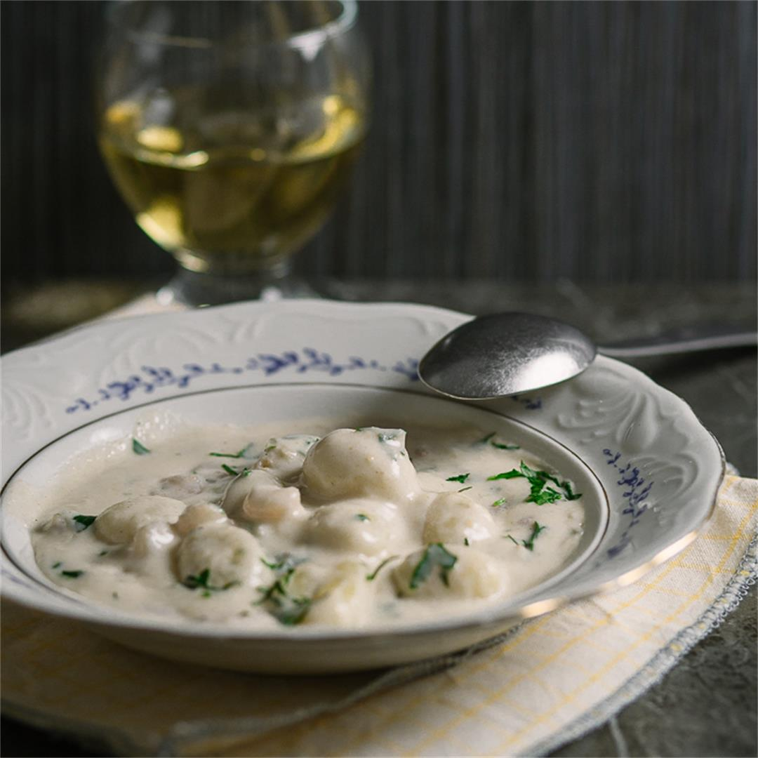 Easy White Wine Gnocchi With Shrimp