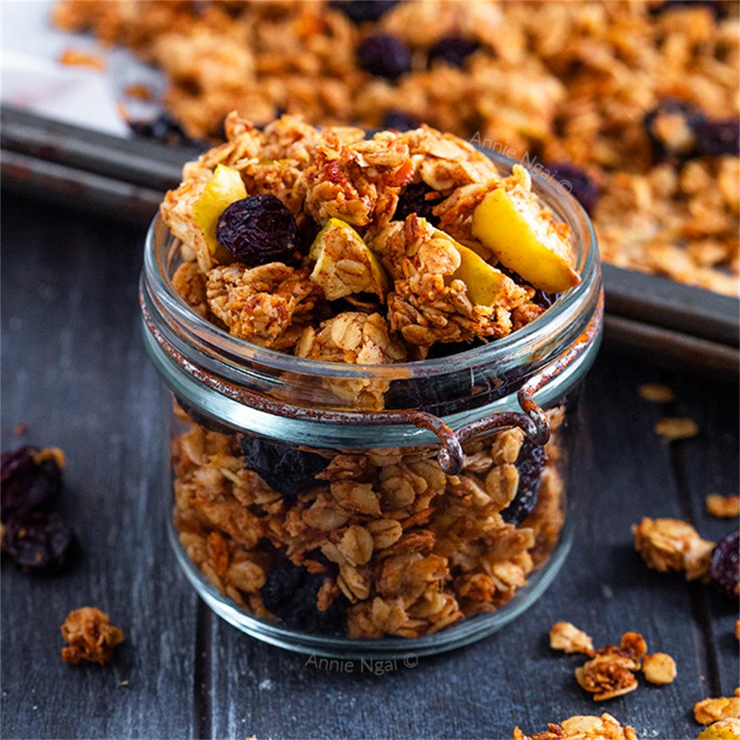 Apple and Raisin Granola {NUT FREE}