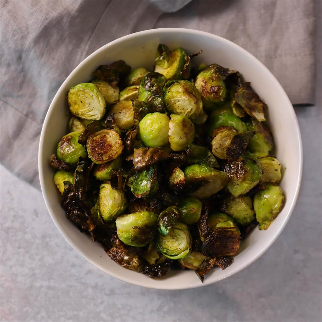Crispy Oven Roasted Brussel Sprouts