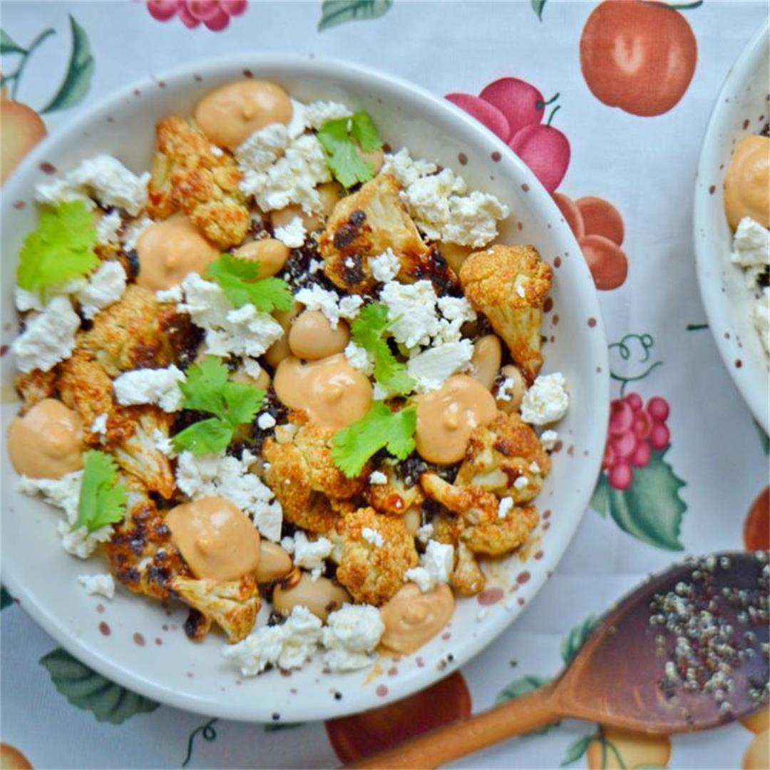 Spicy Roasted Cauliflower Salad — Tasty Food for Busy Mums