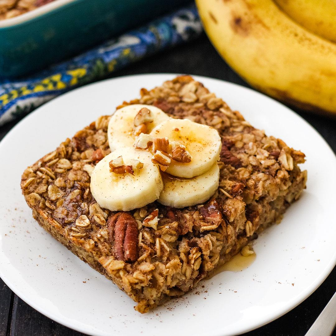 Toaster Oven Baked Oatmeal (Healthy Breakfast for Two)