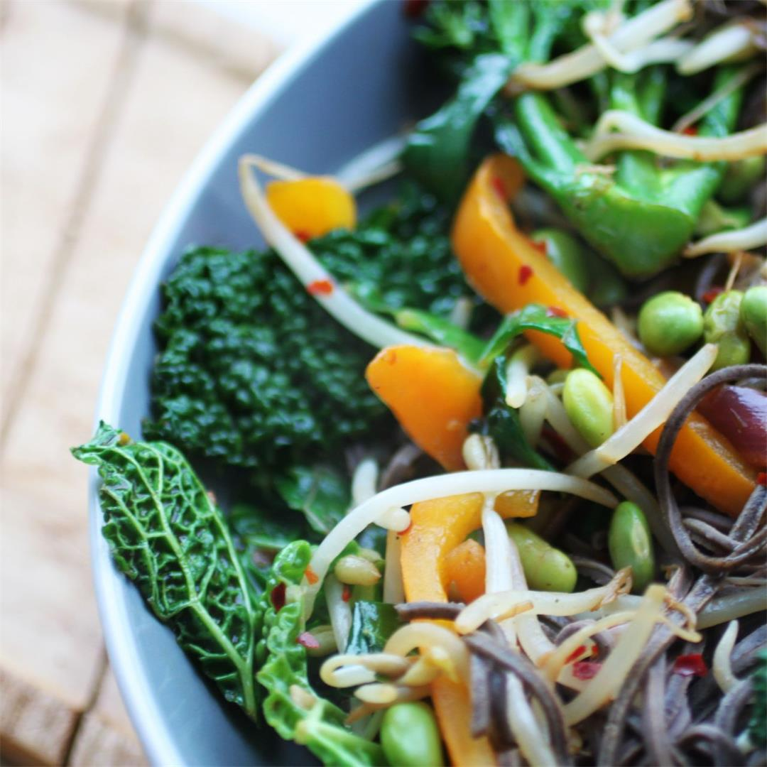 High Protein Vegan Stir Fry Recipe (No Tofu)
