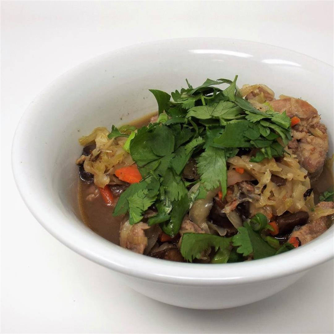 Asian Pork and Cabbage Stew