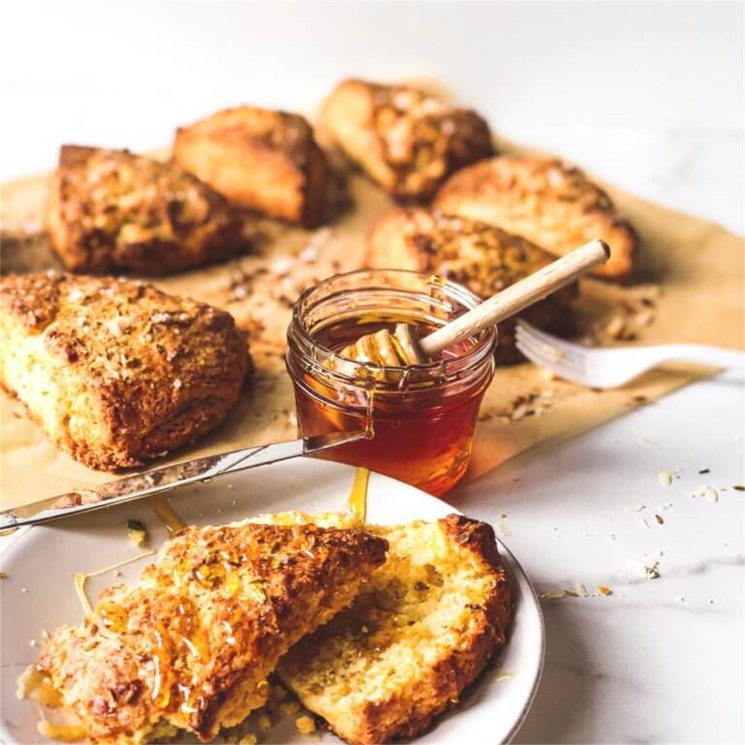 Savory Scones with Parmesan and Fennel