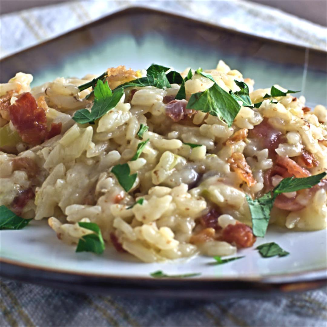 Instant Pot® Bacon and Leek Risotto