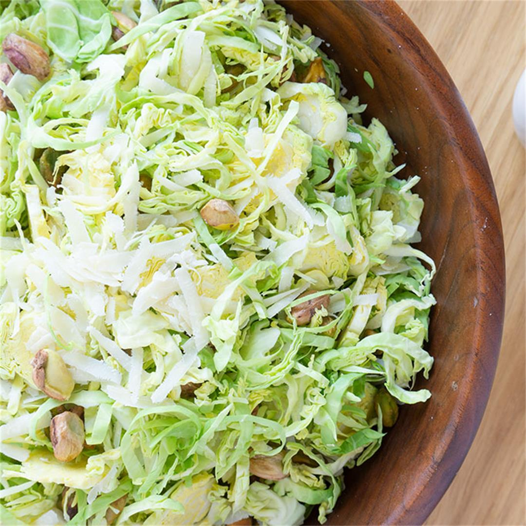 Shaved Brussels Sprouts Salad with Honey Vinaigrette