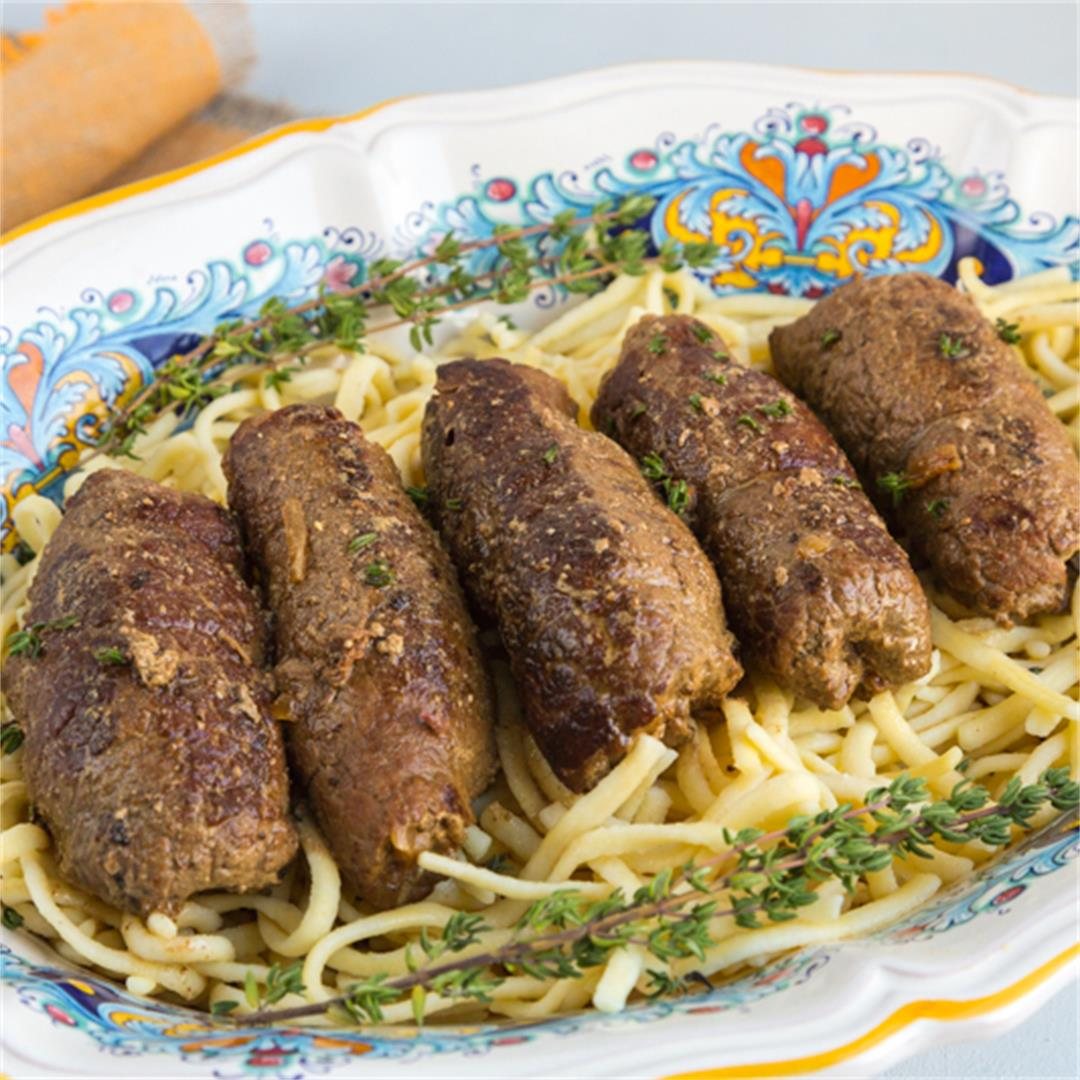 TRADITIONAL GERMAN BEEF ROULADEN RECIPE ~ Comfort & Peasant
