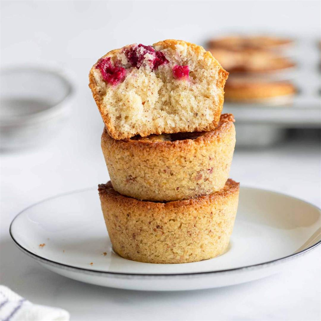 Brown Butter Cherry Muffins