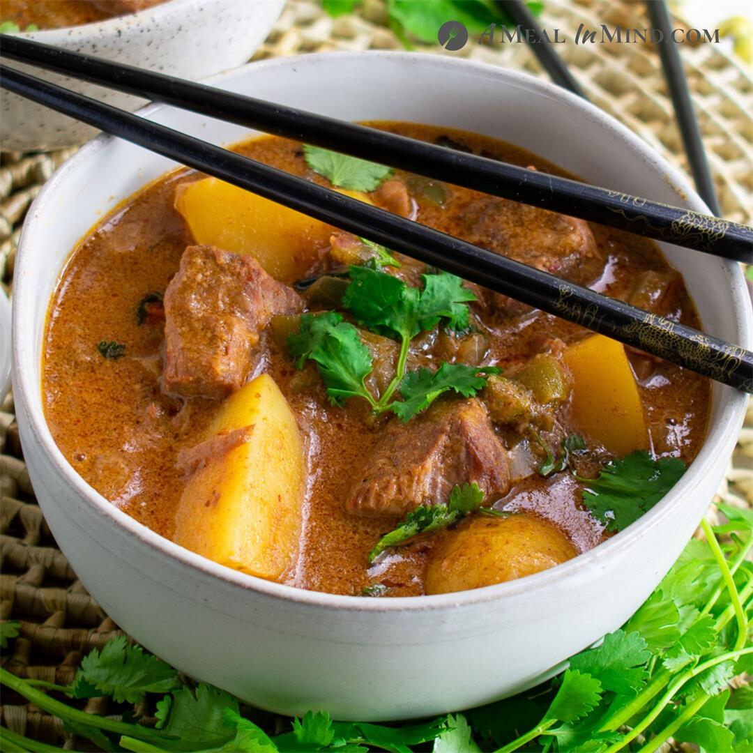 Thai Massaman Curry with Beef and Potatoes