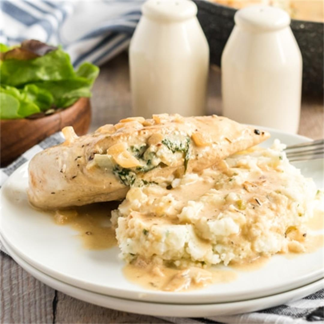 Chicken Florentine (with a twist!)