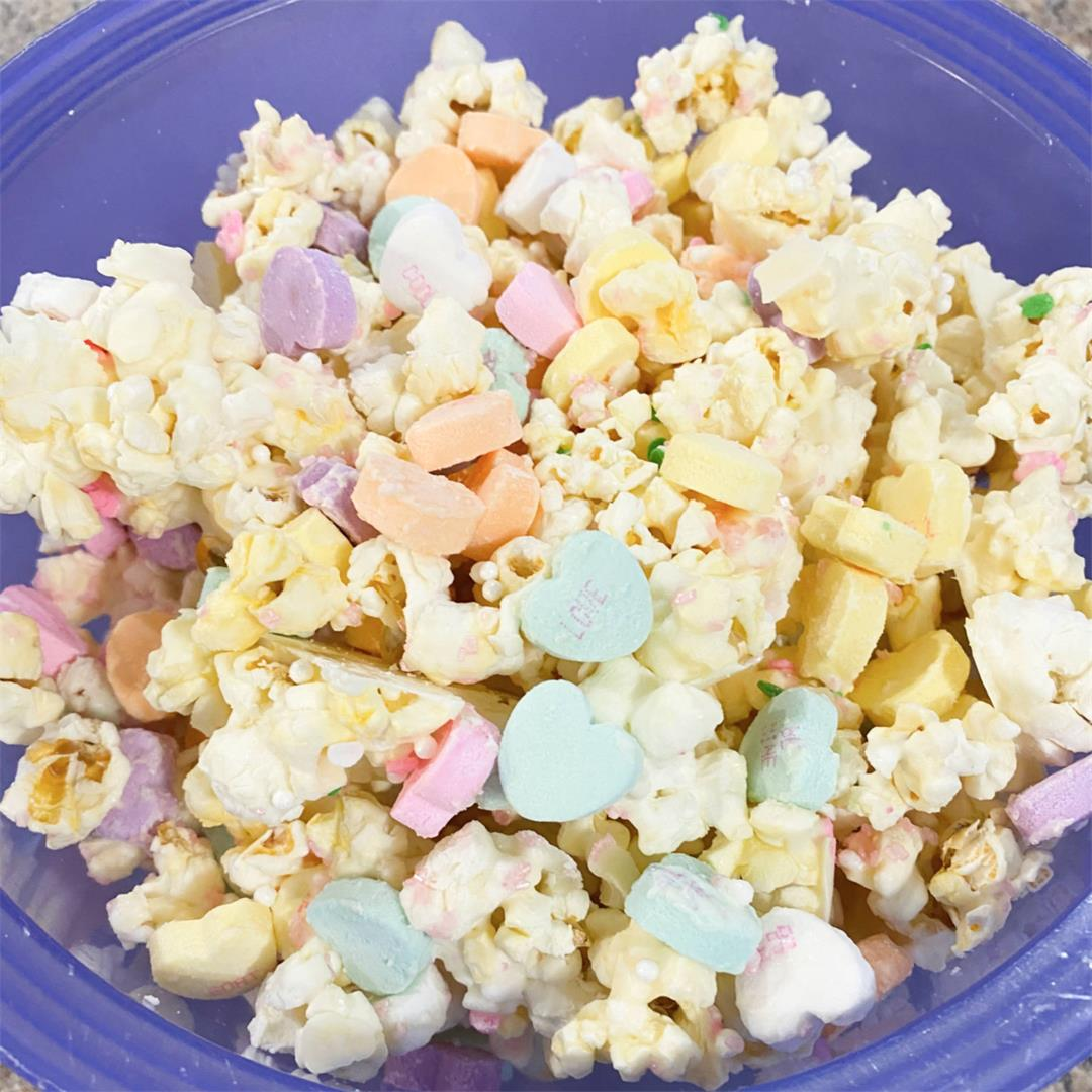 Valentine's White Chocolate Popcorn