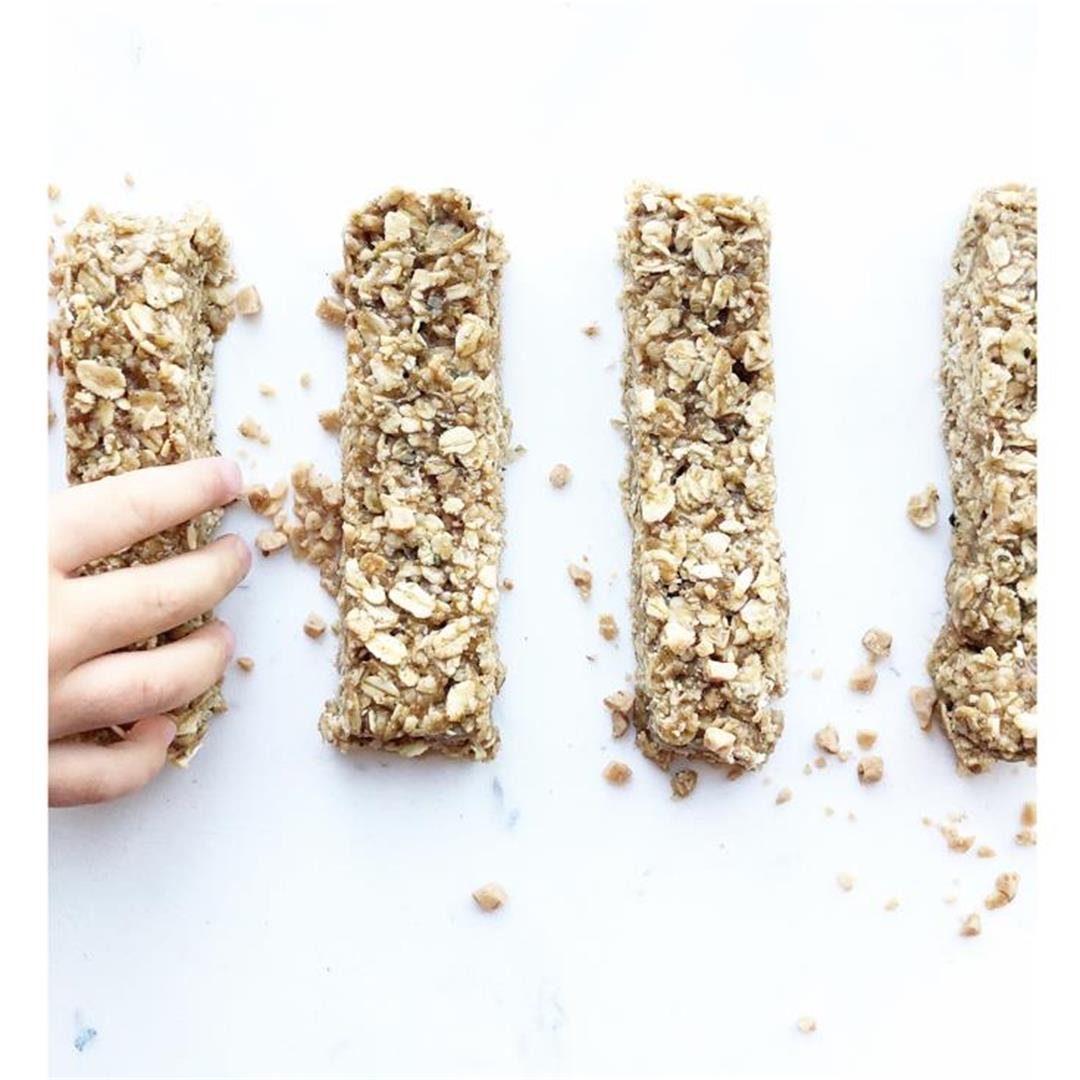 No Bake Banana Heath Granola Bars