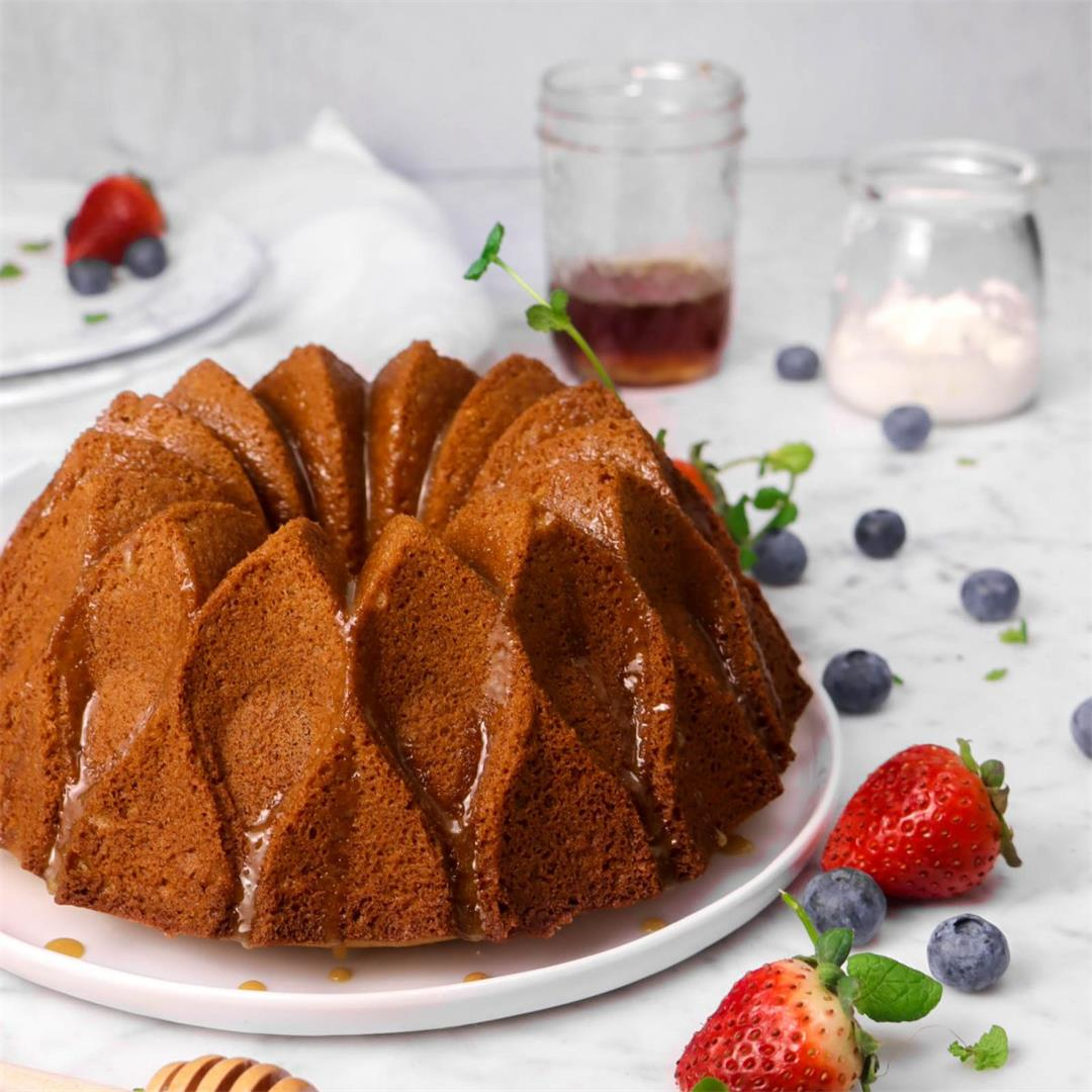 Honey Bundt Cake with Whipped Honey Caramel