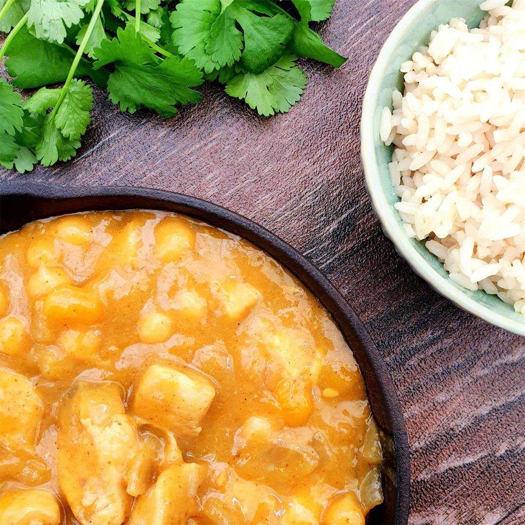 Chicken, Chickpea & Butternut Korma