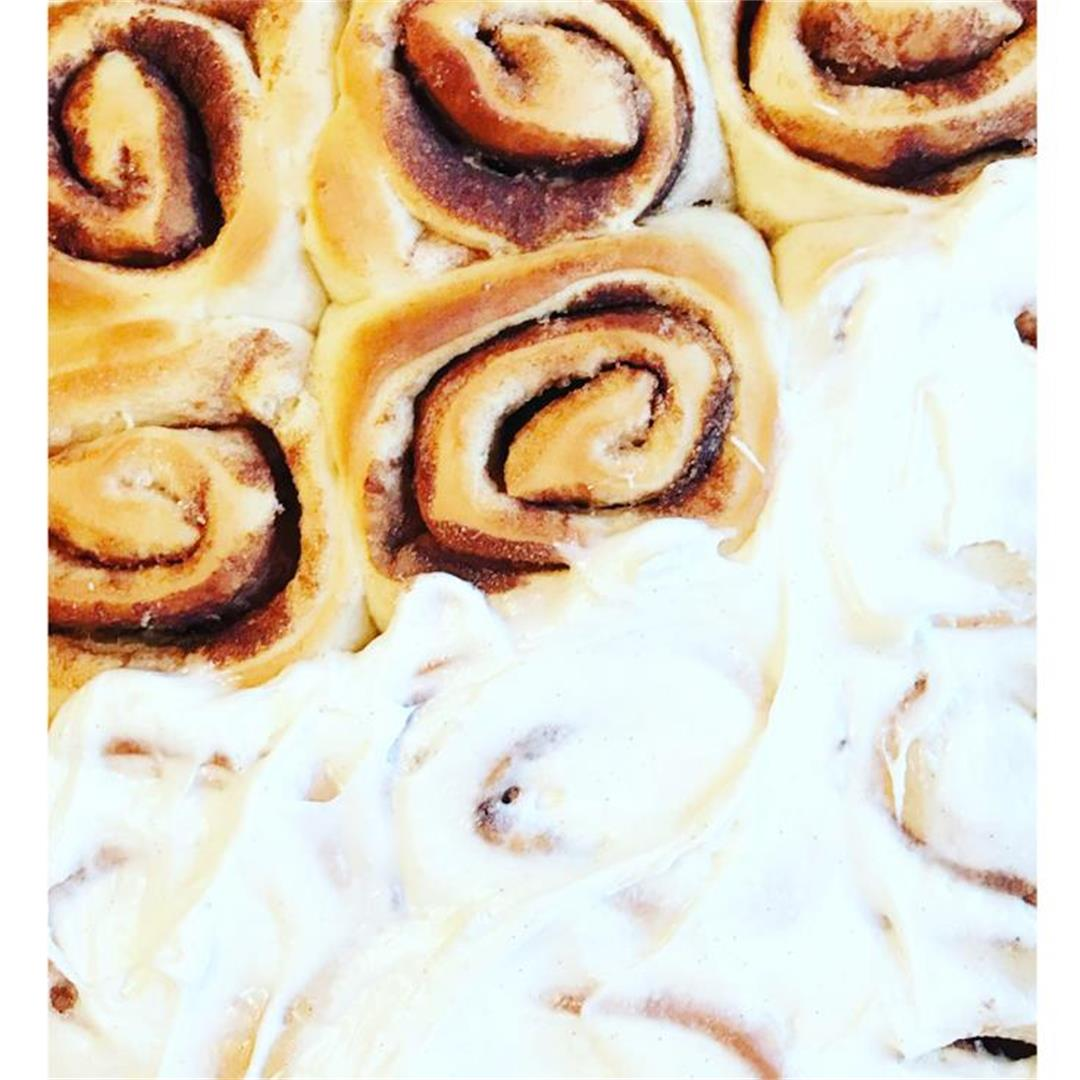 Easy No Rise Cinnamon Rolls With Cream Cheese Frosting