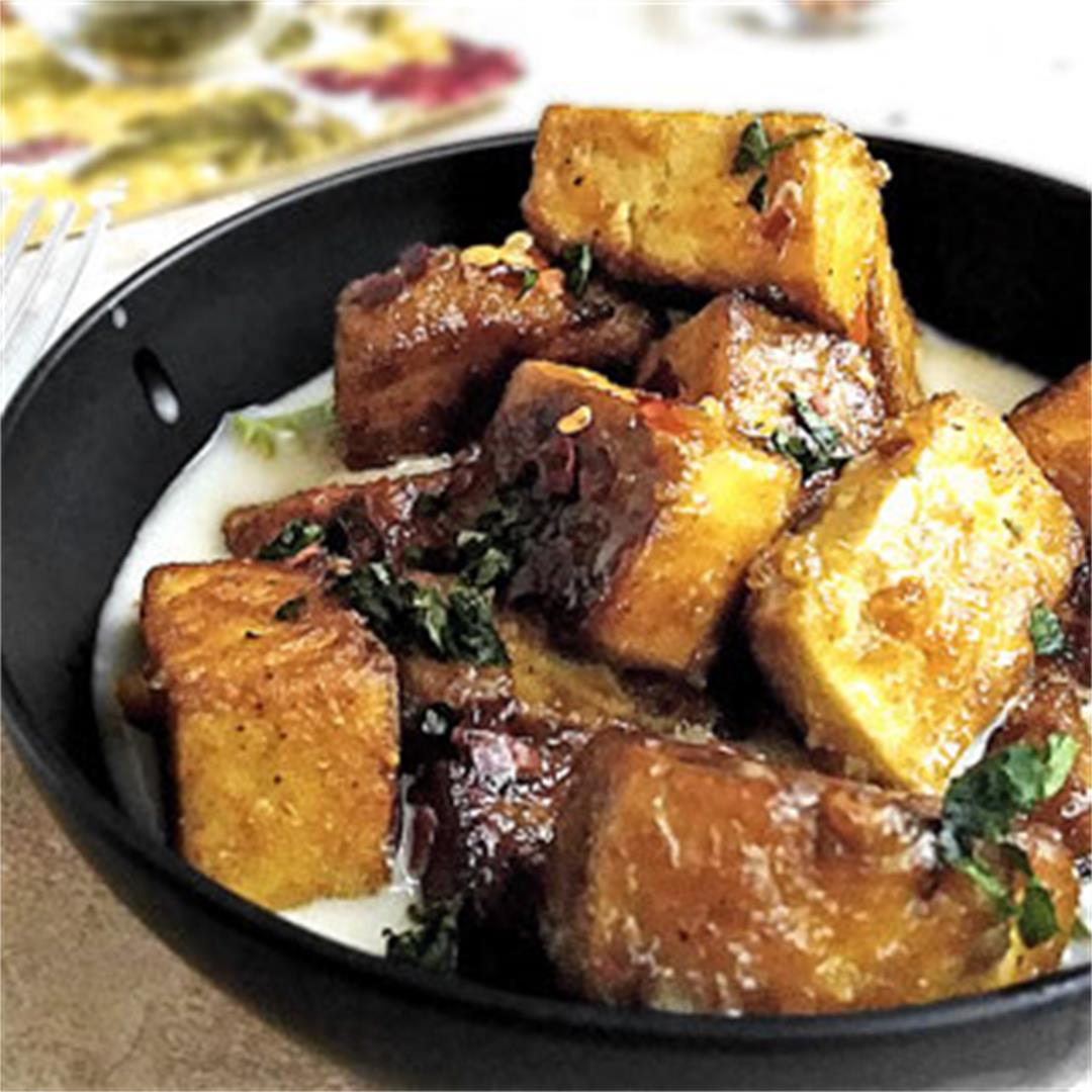 Spicy Tofu with Coconut Cream Sauce