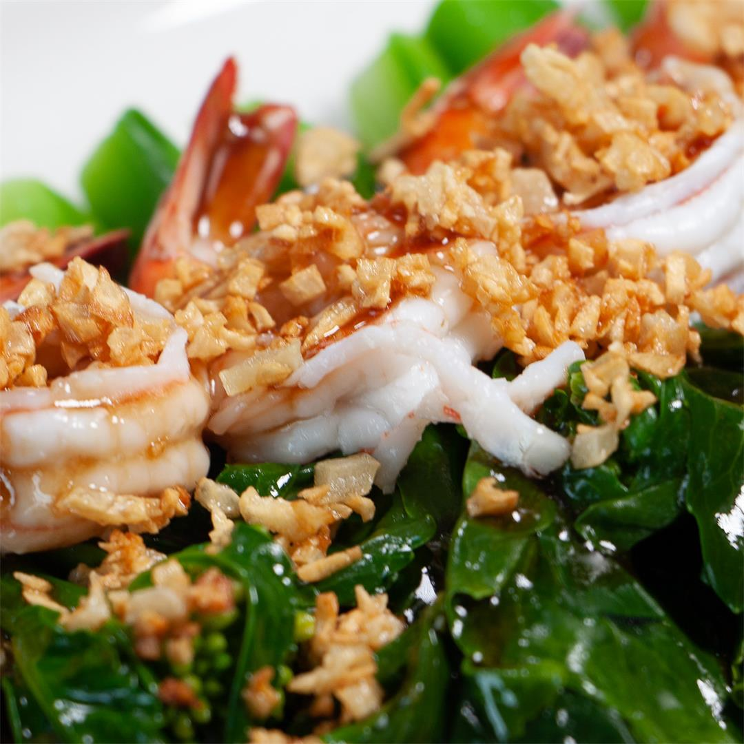 Chinese Kale with Shrimp & Oyster Sauce