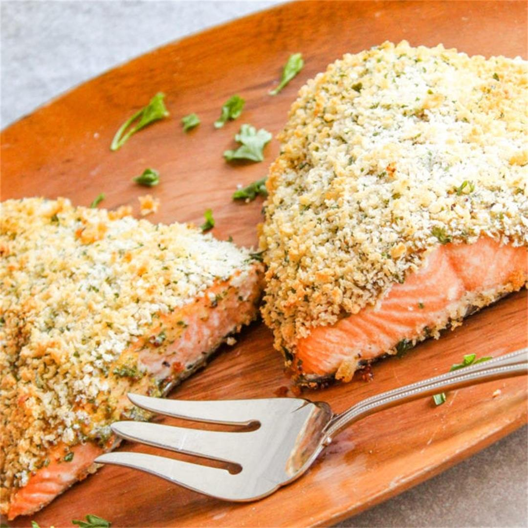Dijon Panko Crusted Salmon Recipe