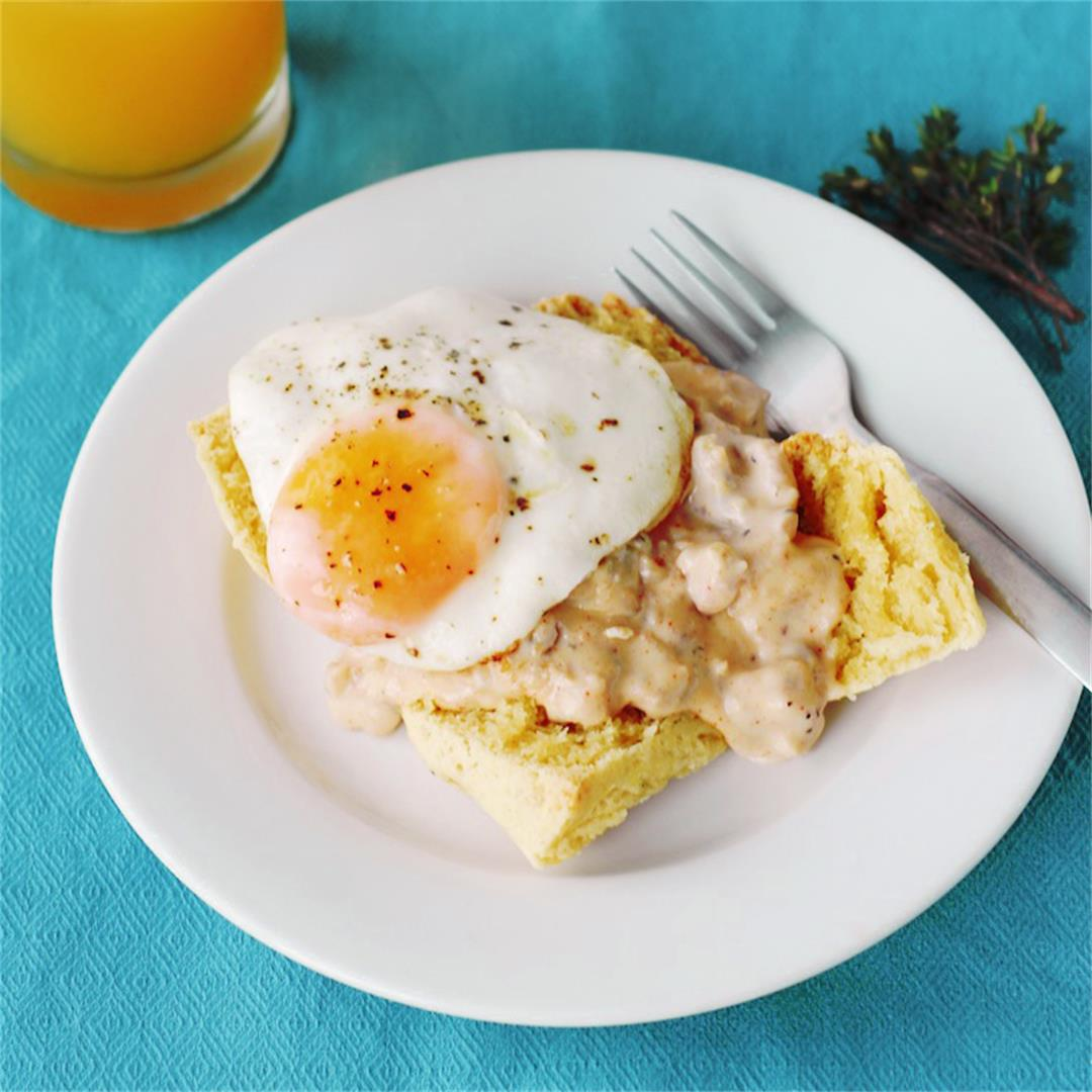 Thyme Biscuits and Sausage Gravy