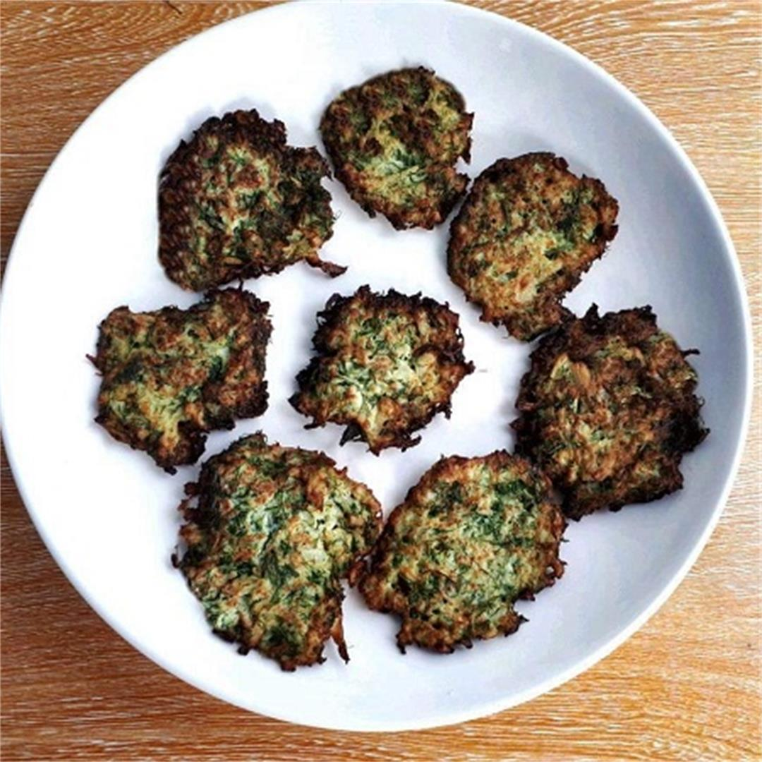 A Cauliflower Fritters Recipe with Dill