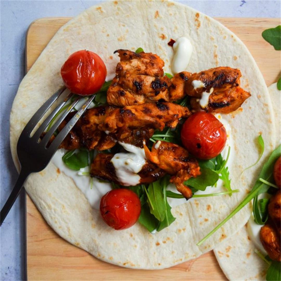 Hot Sauce Chicken Wraps