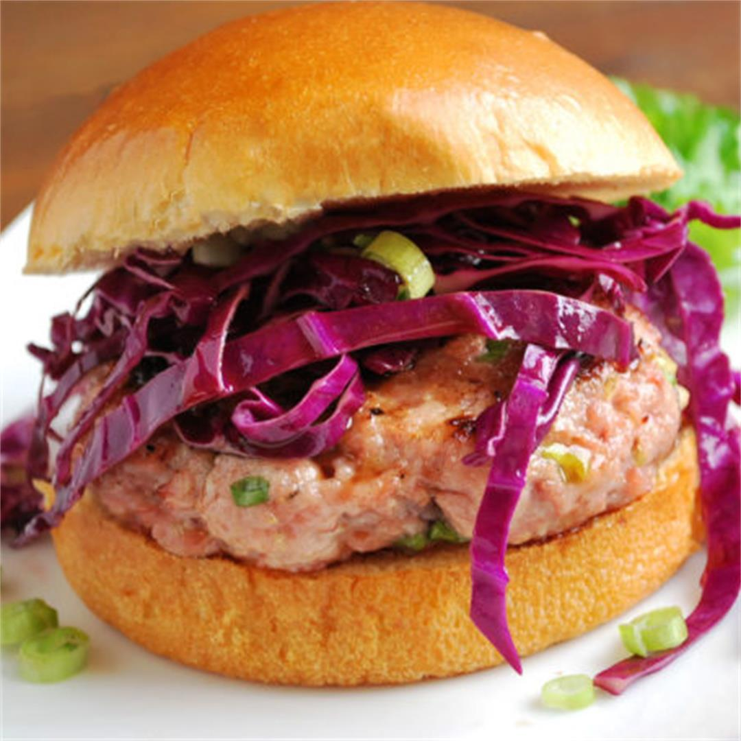 Grilled Asian-Style Pork Burgers
