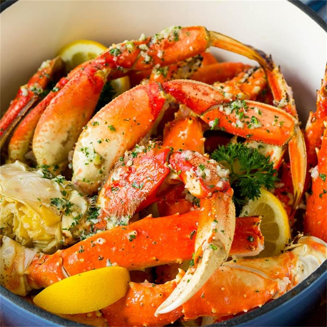 Crab Legs with Garlic Butter