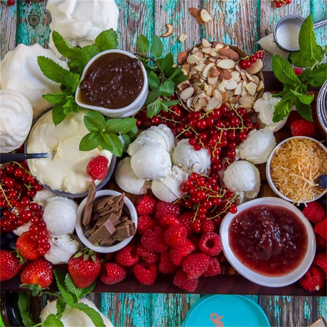 Keto Pavlova Dessert Grazing Platter